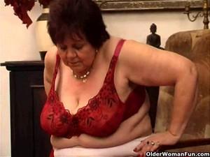 Fat Granny Bonks Her Old Slit With Vibrator