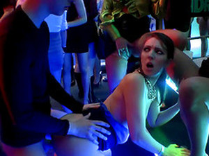 Packed Nightclub With Notorious European Cock Teasing Sluts