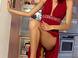 Leanna Takes Off Her Red Dress For A Hot Masturbation Experience