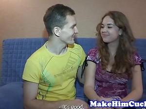 Cuckolding Girlfriend Punishes Her Bf