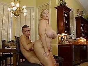 Stunning Blonde With Huge Boobs Takes Big Dick In Her Snatch