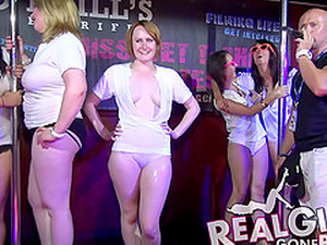 These Wild Girls Know It Takes Skin To Win A Wet T-shirt Contenst