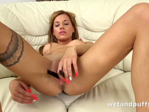 Taco Pussy - Gorgeous Silvia Toys Her Taco With A Huge Black Dildo