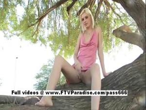 Christine Funny Adorable Teenage Babe Public Flashing