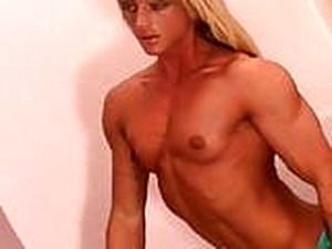 Topless Muscle Girl No Breast Implants 2