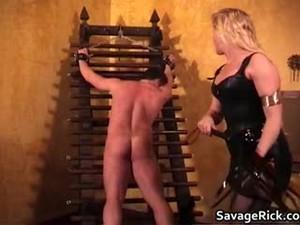 Hot Black Leather Blonde MILF Babe Gets Part5