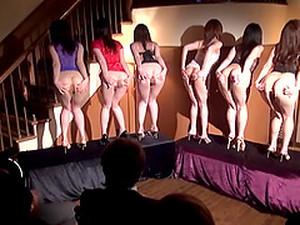 Pretty Japanese Babes Do A Provocative Show For Horny Men