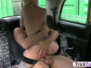 Sexy Blonde Chick Gets Boned By Her Cab Driver