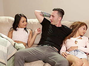After Choking On His Cock Holly Hendrix Gets Drilled Until She Cums