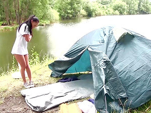 Nicole Love Seduced By Two Men During A Camping Trip