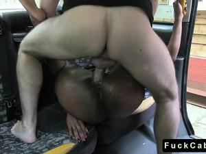 Ebony Fucks And Sucks White Dick In Fake Taxi