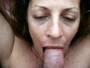 Adult Blonde Milf Provides Blowjob To Some Large Penis Toge