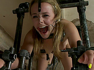 Awesome Bondage Scene With Kickass Sex Machine