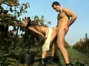 Asian Worker Fucked Outdoors At A Farm