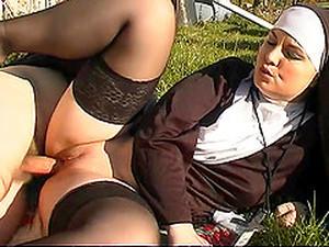 Kinky Nun Enjoys Having A Thick Rod In Her Orgasmic Cunt