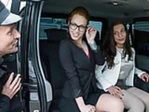 FUCKED IN TRAFFIC - Czech Petite Banged By Taxi Driver