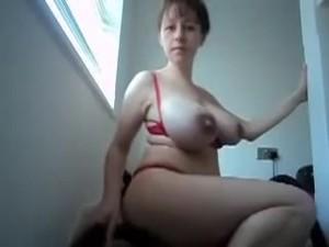 Saggy Tits Mom Vacuum Home