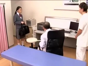 Medical Scene Of Young Na.ve Asian Sweetie Getting Checked By Two Kinky Doctors