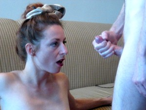 She's Surprised By How Much I Cum