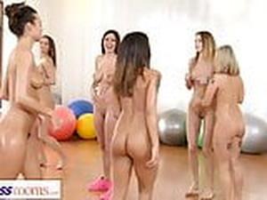 Fitness Rooms Lesbian Threesome Fitness Fuck