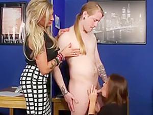 Kinky Cfnm Babes Tug Cock