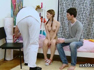Doctor Watches Hymen Check-up And Virgin Sweetie Riding
