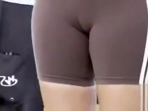 Good Cameltoe Video With Girls In Spandex Shorts