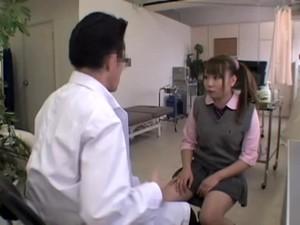 Jap Schoolgirl Gets Some Fingering During Her Medical Exam