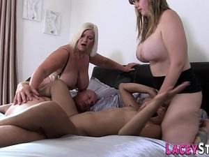 Foursome Sex With Granny