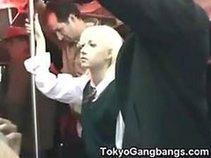 Slutty Blonde Teen Gets Her Pussy And Ass Fingered In A Japanese Metro
