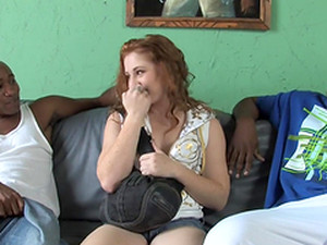 Lucy Fire Gets Her Ivory Pussy Smashed By Two Black Studs