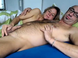 Hairy Older Dude Gets His Pulsating Fuck Stick Jerked And S