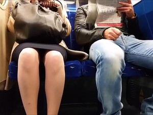 Morning Upskirt On Train