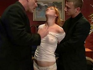 Cute Redhead Babe Gets Molested And Humiliated By Her Husband