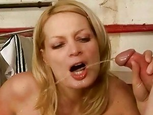 Horny Mature Guy And Slutty Babe Have Pissing Fuck Fest