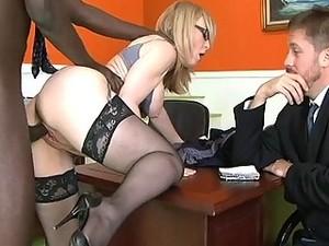 Cheating Blonde Wife Prefers Huge Black Cock