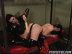 Latex Submissive Is Punished And Hurt