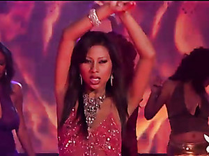 Glamorous Chicks Up On Stage Dancing Lustily
