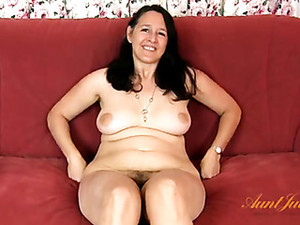 Chubby Mom Strips During Her Interview