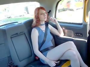 American Redhead Fucks In UK Taxi
