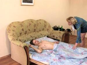 Aunt Wakes Him Up