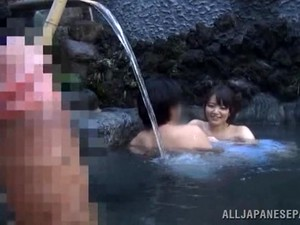 Naughty Asian Babe Outdoors In The Public Bath