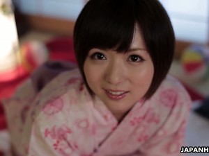 Likable Short Haired Japanese Lady You Asakura Is Teased With A Huge Vibrator