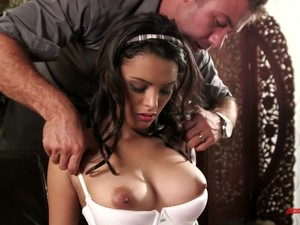 Naughty Coed Chick Josie Jagger Sits Onto Tutor's Laps And Lures Him For Sex