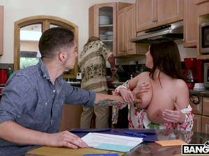 Stacked Tutor Angela White Talks Her Student Into Having Sex With Her