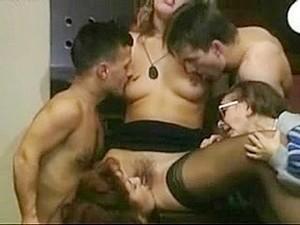 Vintage Hardcore Sex Scene With Midget Broads