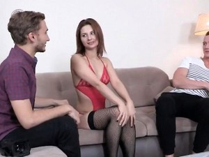 Indebted Stud Allows Naughty Pal To Shag His Ex-girlfriend F