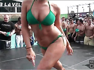 Bikini Dance Contest With A Bevy Of Babes