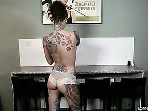 Tight Babe With Tons Of Tattoos Talks Naughty