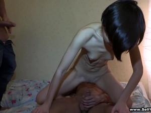 Teen Brunette's Fucked By Two Guys In Amateur Threesome
